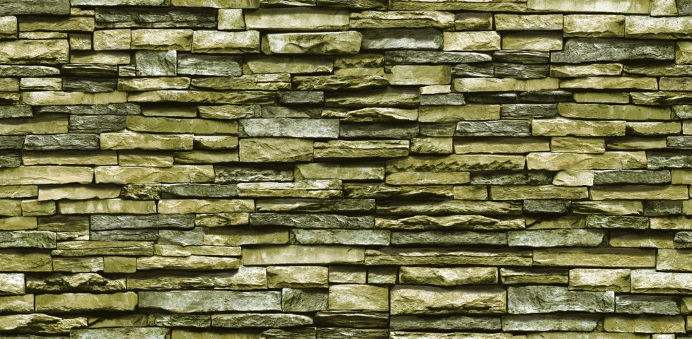 Giấy dán tường giả đá xanh rêu